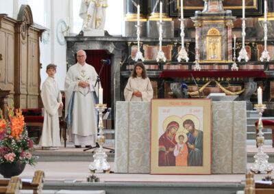 Pfarrer Thomas Rey stand dem Gottesdienst vor.